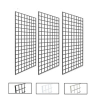 2' X 4' Gridwall Panels | Black, White or Chrome | Case of 3