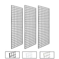 2' X 5' Gridwall Panels | Black, White or Chrome | Case of 3