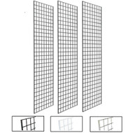 2' X 8' Gridwall Panels | Black, White or Chrome | Case of 3