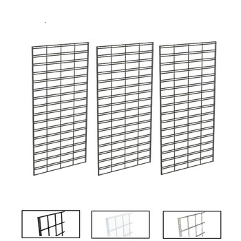 2' X 4' Slatgrid Panels | Black, White or Chrome | Case of 3