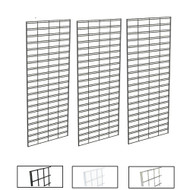 2' X 5' Slatgrid Panels | Black, White or Chrome | Case of 3