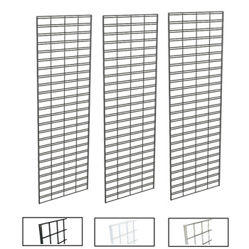 2' X 6' Slatgrid Panels | Black, White or Chrome | Case of 3