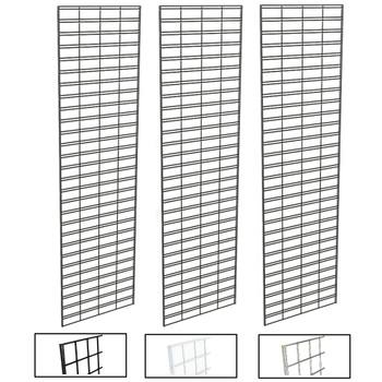2' X 7' Slatgrid Panels | Black, White or Chrome | Case of 3