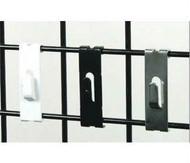 Gridwall Notch Hooks | Black, White or Chrome