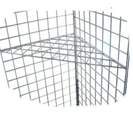 Gridwall Triangular Corner Shelf | Black, White or Chrome | Case of 5