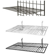 "Gridwall Flat Shelf 24"" x 14"" 