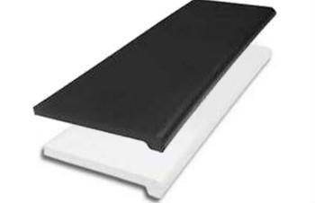 """Plastic Bullnose Shelves 13"""" x 48""""   Black or White   Case of 4"""