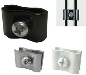Gridwall Panel Connectors | Black, White or Chrome