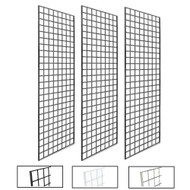 2' X 6' Gridwall Panels | Black, White or Chrome | Case of 3