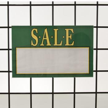 "Grid   Gridwall Acrylic Sign Holder 7""H X 11""W   Horizontal"