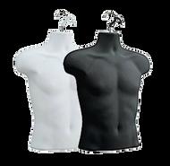 Male Upper Torso Hanging Form | Black or White | Case of 12