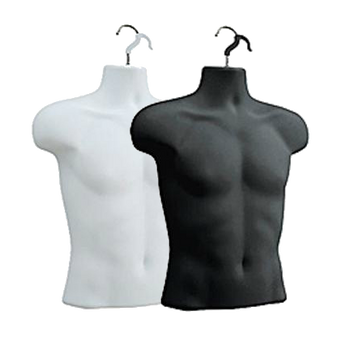 Male Upper Torso Hanging Form | Black or White | Case of 12