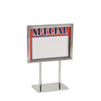 "5.5""H x 7""W Twin Stem Metal Countert Sign Holder 