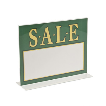 "8.5""H x 11""W Double Sided Acrylic Countertop Sign Holder 