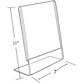 "11""H x 7""W Acrylic Tabletop Sign Holder 