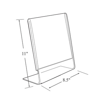 """11""""H x 8.5""""W Acrylic Tabletop Sign Holder 