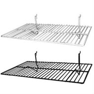 "14"" x 24"" Flat Slatwall Wire Shelves 