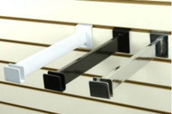 """Slatwall Hangrail Bracket 12"""" For Rectangular Tubing   BL, WH or CH"""