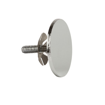End Cap for 1.25'' Diameter Round Hangrail Tubing | Chrome