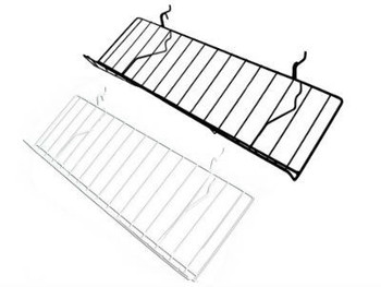 "Gridwall Slanted Shelf 8"" x 23"" 