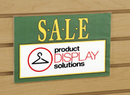 "7""H X 11""W Slatwall Acrylic Sign Holder"