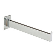 "12"" Straight Wall Mount Rectangular Tube Faceout 