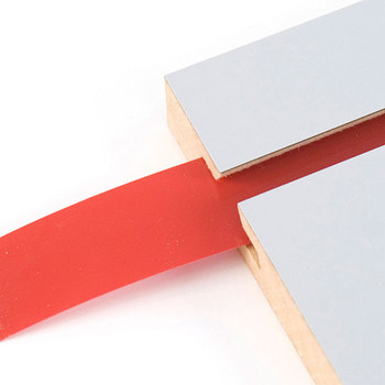 "Decorative Slatwall Vinyl Inserts | RED 128'L Roll x 1 1/4"" Height"