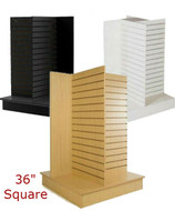 "4 Sided Slatwall Display Stand | 36""W x 54""H 