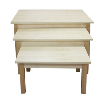 Wood Nesting Display Tables | Maple or Black