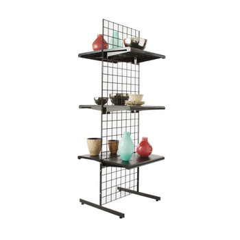 Gridwall Two Sided Free Standing Display   Black, White or Chrome   Set of 3