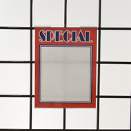 "Grid | Gridwall Acrylic Sign Holder 7""H x 5.5""W - Vertical"