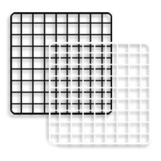 "Mini Grid Panels 14'' x 14"" | Black or White | Case of 48"