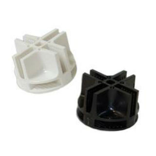 Plastic Connectors For Mini Grid Panels | Black or White | Case of 100