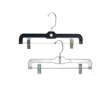 "12""  Plastic Skirt & Pant Hangers  Black or Clear 