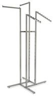 4 Way Rack With 2 Straight & 2 Waterfall Display Arms | CHROME