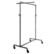 "41"" Wide Pipeline Adjustable Rolling Rack with One Cross Bars 