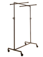 Pipeline Adjustable Rolling Ballet Rack with Two Cross Bars | GREY