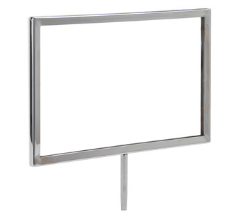 """5.5""""H x 7""""W Sign Holder for Clothing Racks with 3""""L Swedge Stem"""