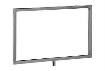 "7""H x 11""W Horizontal Sign Holder with 3/8"" Threaded Receiver"