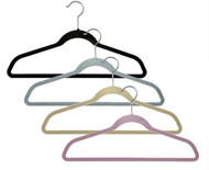"17"" Slimline Velvet Dress & Shirt Hanger w/Bar 