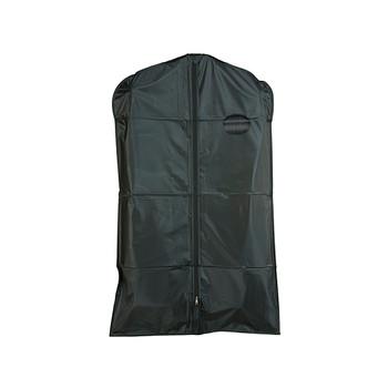 "40"" Heavy Duty Vinyl Zippered Suit Cover BLACK | Case 100"