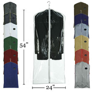 "54"" Vinyl Zippered Suit & Coat Cover | Case 100"
