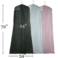"""72"""" Zippered Bridal Gown Cover 