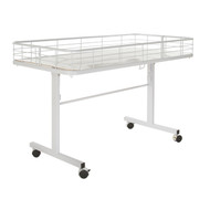 Folding Dump Bin Table on Wheels | White