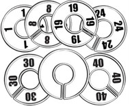 Round Size Dividers | Options: Blank, 1 to 58 | Case of 100/Size
