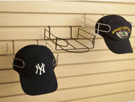 Slatwall Baseball Cap Display | Black, White or Chrome | Case of 8
