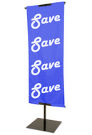 "48""H to 84""H x 24""W Adjustable Floor Standing Banner Displayer 