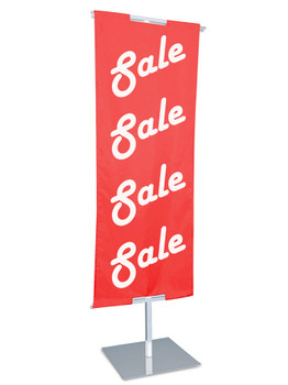 """48""""H to 84""""H x 24""""W Adjustable Floor Standing Banner Displayer 