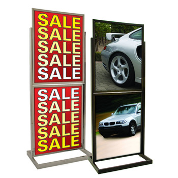 "22"" x 28"" Two Tiers Bulletin Sign Holder 