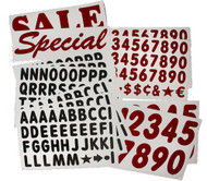 "314 - 4""  Letters & Numbers KIT for WHITE DELUXE Message Board Sign"